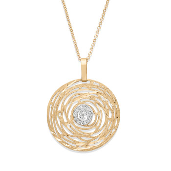 14K MULTI SWIRL NECKLACE