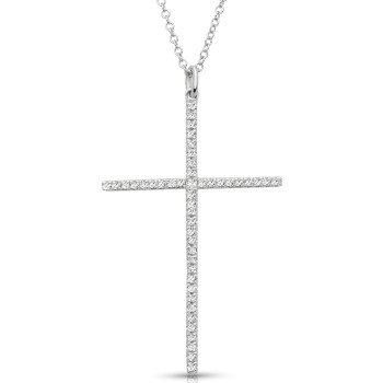 14K CROSS DIA NECKLACE