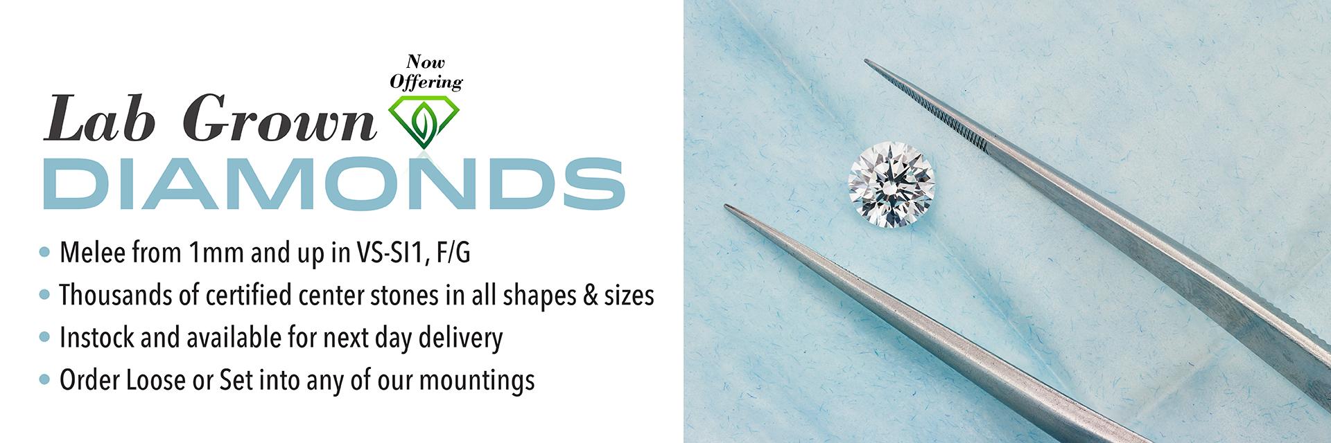 Mountings, Semi Mounts, Finished Jewelry & Custom Jewelry in New